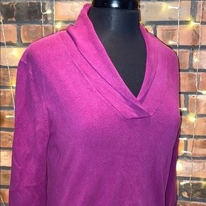 Chaps Pink V Neck Sweater Long Sleeved Comfortable